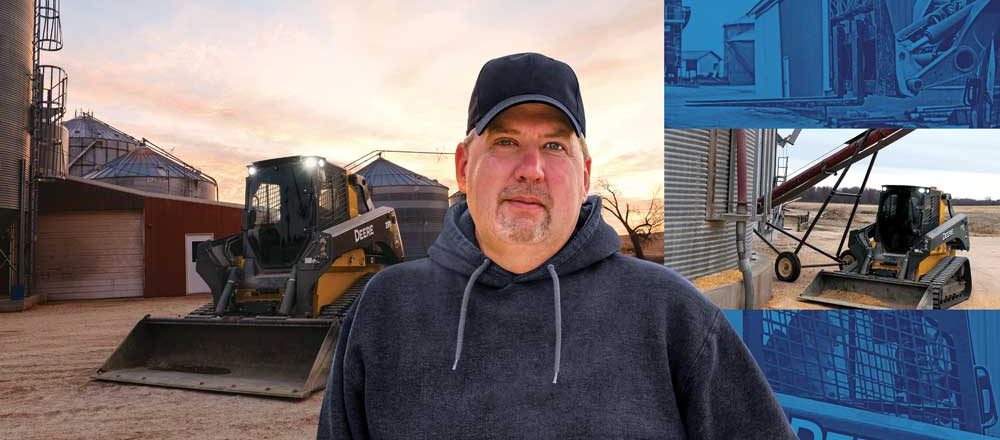 Mitch Zumbach with John Deere equipment with EH control system