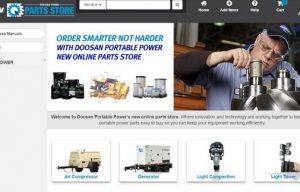 Doosan Portable Power Launches Online Parts Store