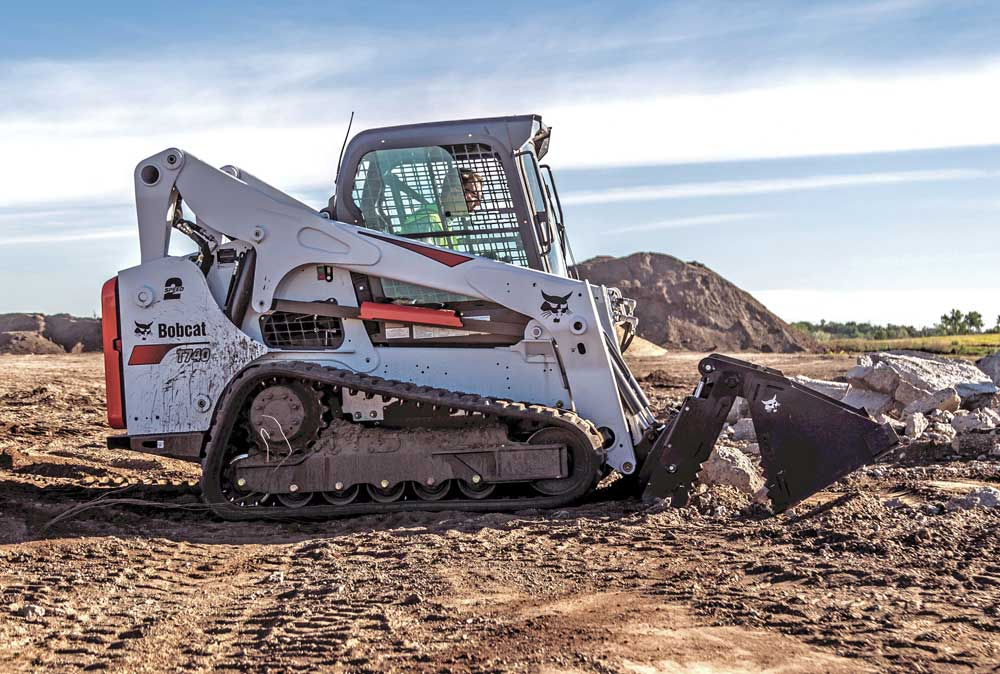 Bobcat track loader