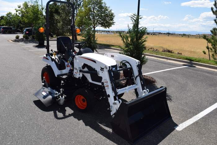 compact tractor in action