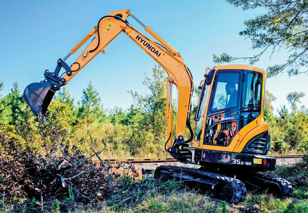 Hyundai 35Z 9A compact excavator