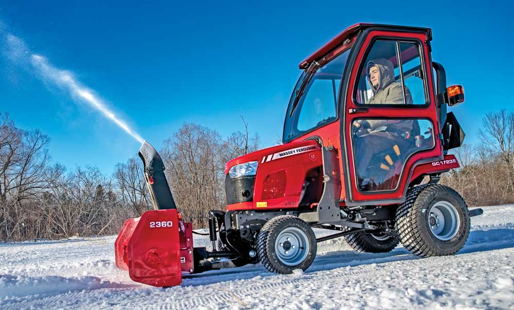 Massey Ferguson tractor with snow blower attachment