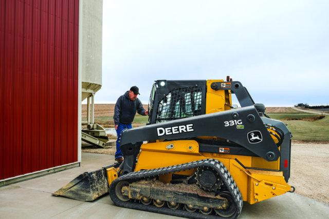 Overall John Deere track loader handicapped