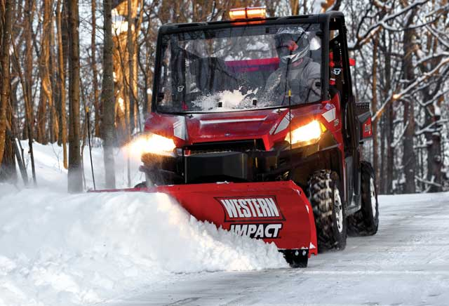 Western Impact UTV V-Plow and Straight Blade Snowplow