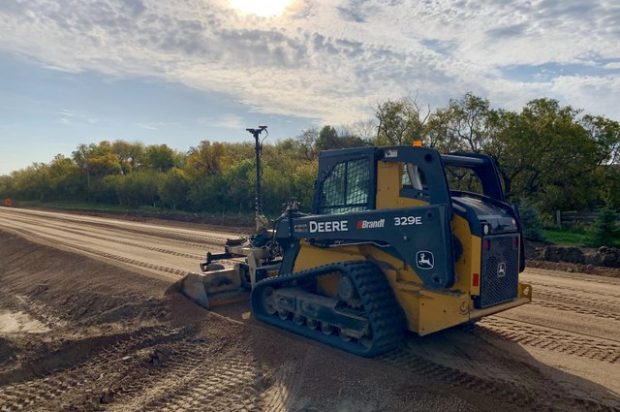 Saskatchewan's Warman Excavating Utilizes Topcon 3D Grade Control and a John Deere Track Loader to Build New Roads
