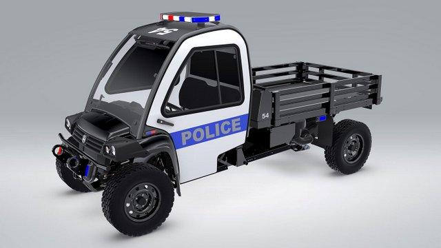 police-long John Deere UTV