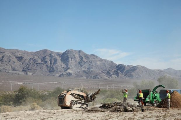 Case Dealer Sonsray Machinery Supports Team Rubicon Wildland Fire Cleanup in Las Vegas
