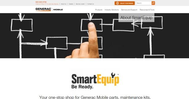 Generac webpage