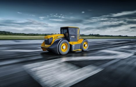 Cool Photo Collage: JCB Sets New World Record for Fastest Tractor, Confirming Fa...