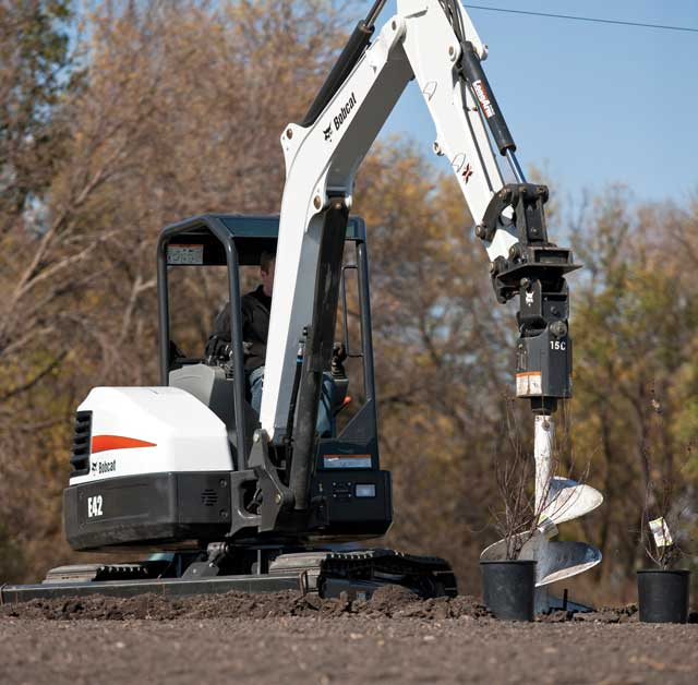 Bobcat offers three auger options