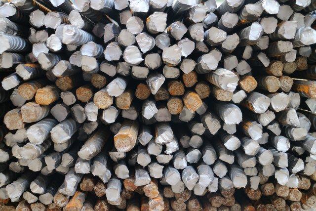 Steel bars iron materials inputs