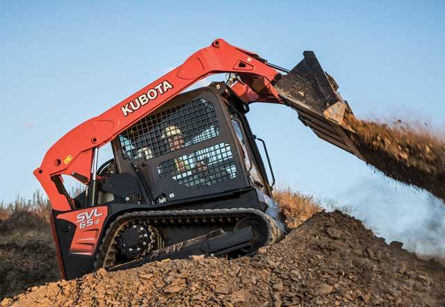 Kubota's new SVL65-2 track loaders,