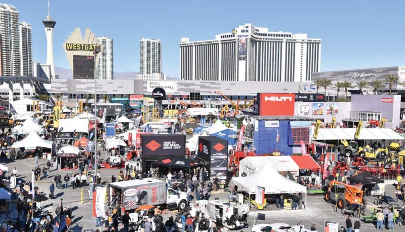 World of Concrete outdoor exhibits