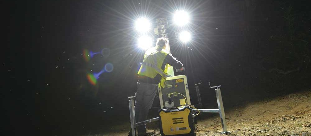 Atlas Copco light tower