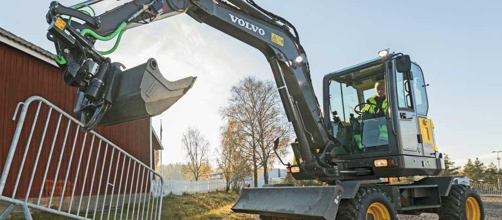 Volvo wheeled excavator