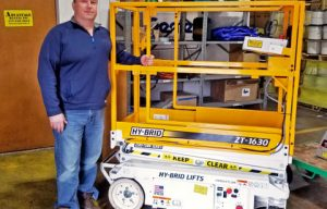 Hy-Brid Lifts Delivered Its First Order of ZT-1630 Lifts to Advantage Rental in Pittsburgh
