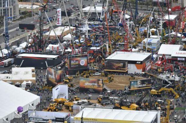 Photo collage: CONEXPO 2020 Still Wowed the Construction Industry Despite COVID-19 and Rain