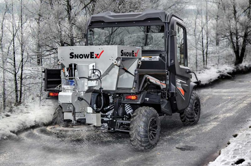 SnowEx Helixx Stainless Steel Hopper for UTVs
