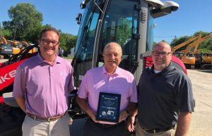 Dealer Watch: Diamond Equipment Awarded Takeuchi-US's Midwest Dealer of the Year