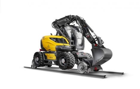 This Compact Railroad Excavator from Mecalac Looks like It Comes from the Future