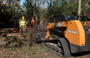 CASE Supports Team Rubicon in Hurricane Laura and Hurricane Delta Cleanup Operations