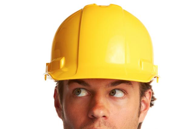 construction worker helmet studio