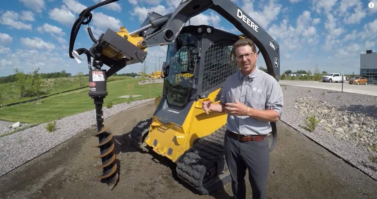 RDO Equipment dealer talking about attachments John Deere track loader