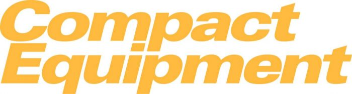 compact equipment logo on white background