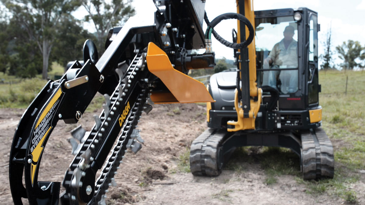 Digga trencher attachment