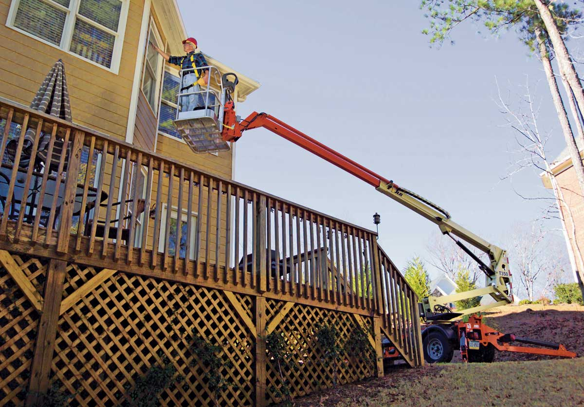 JLG offers two towable boom lift models