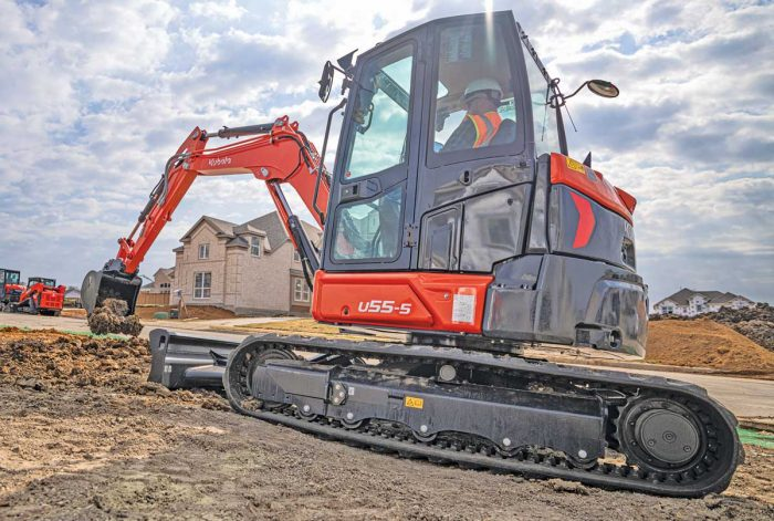 Kubota U55-5 excavator