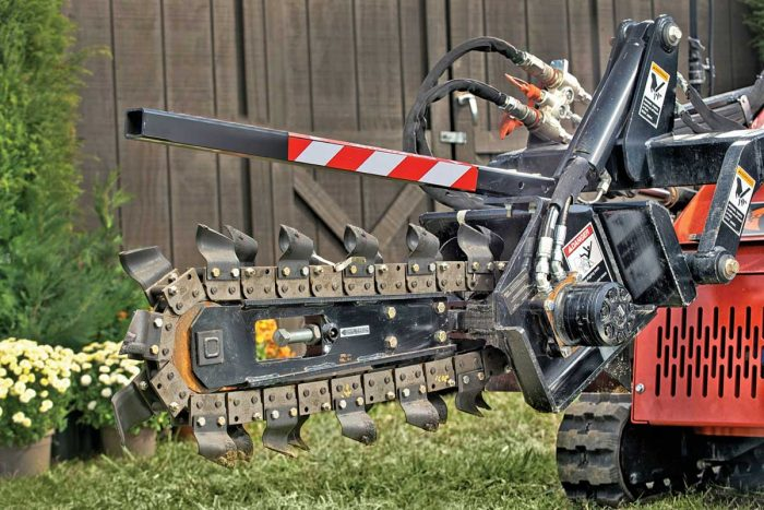 Ditch Witch SK5TR trencher attachment