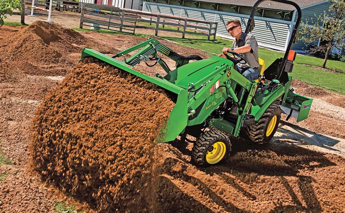 John Deere utility tractor
