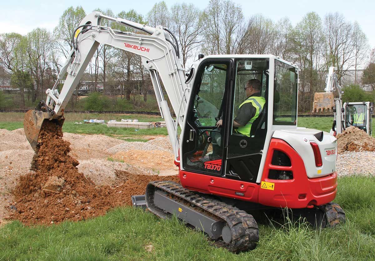 Takeuchi excavator