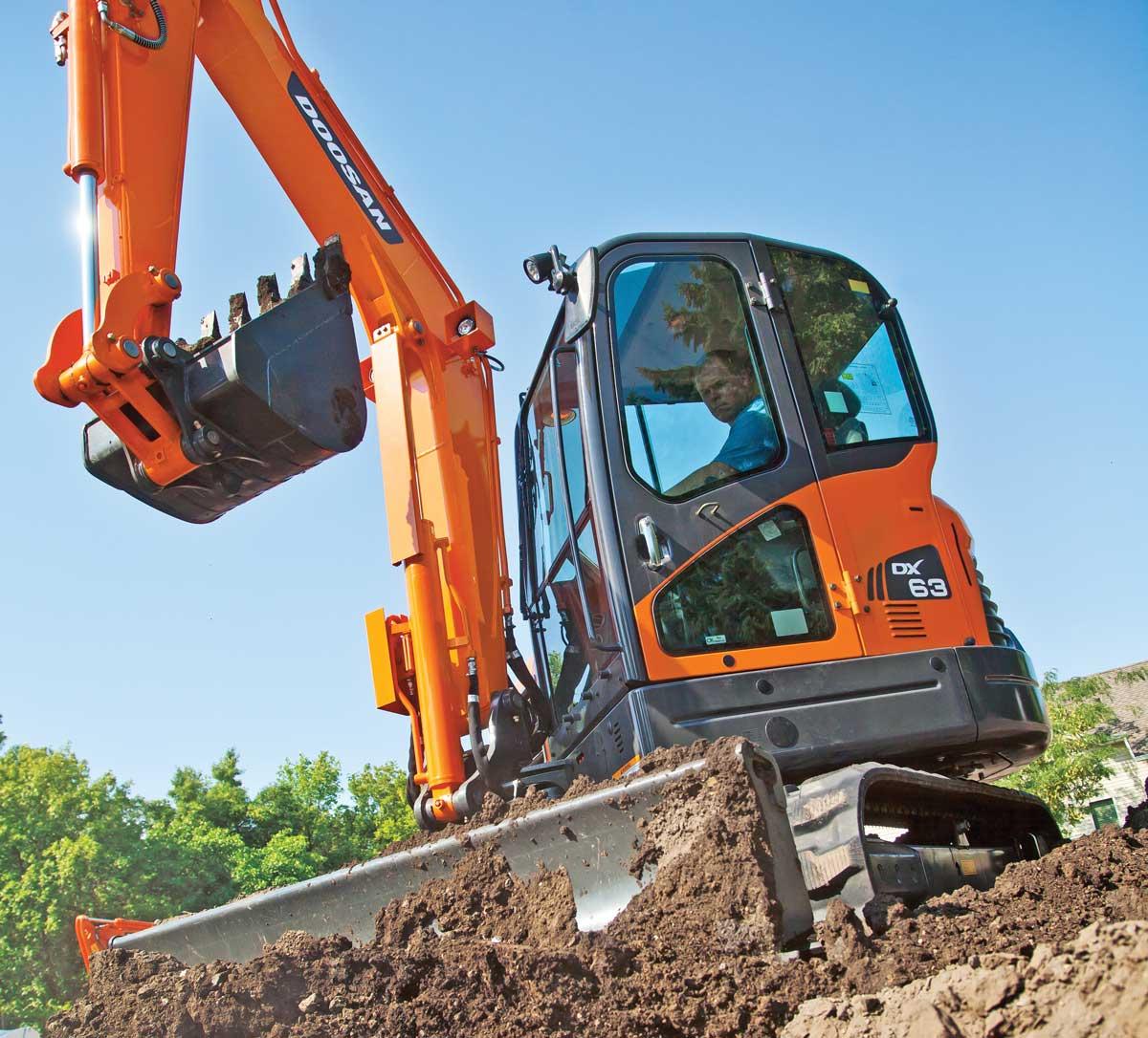 Doosan DX63 excavator