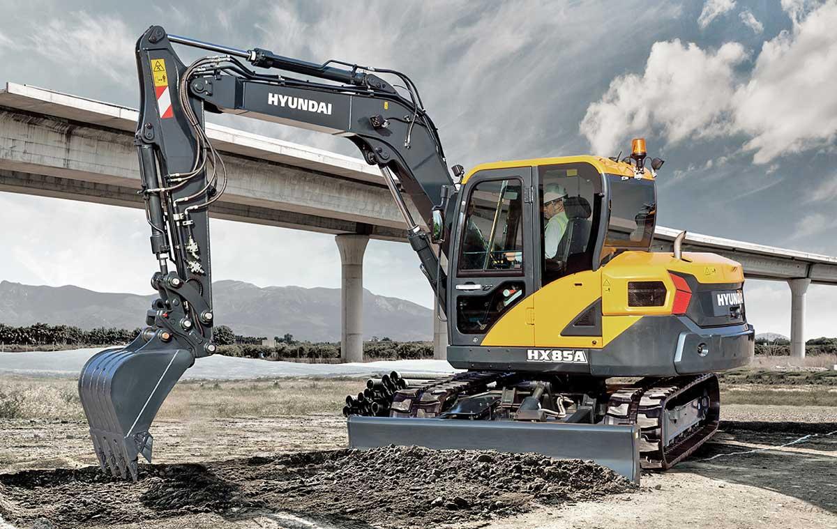 Hyundai HX85A Mini Excavator
