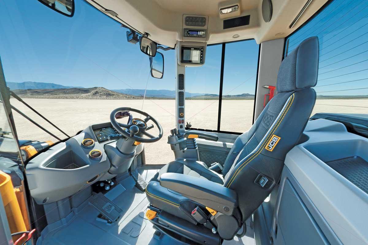 JCB wheel loader cab