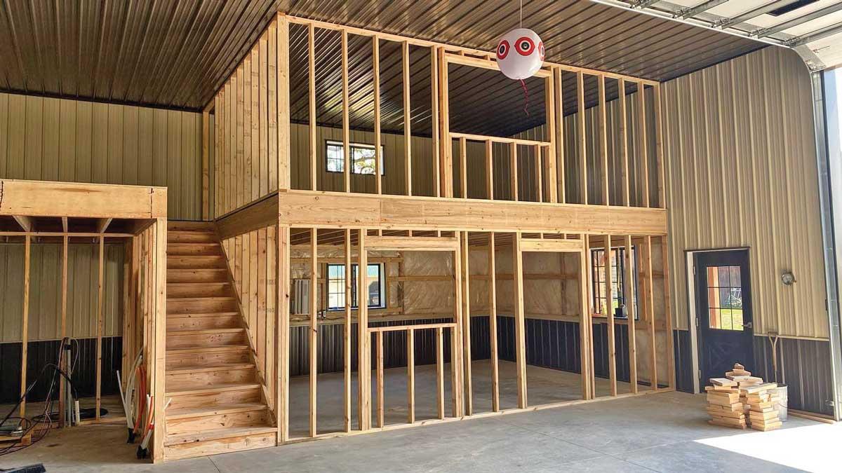 pole barn- interior