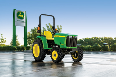 John Deere has electronic hydrostatic transmissions in the five models of its 3E Series, connected to Yanmar engines rated from 31 to 45 hp.