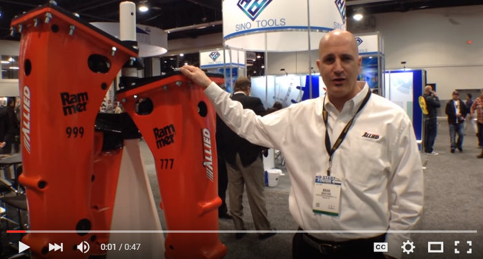 WATCH: Rammer's compact and small hammer series walk around at World of Concrete 2016