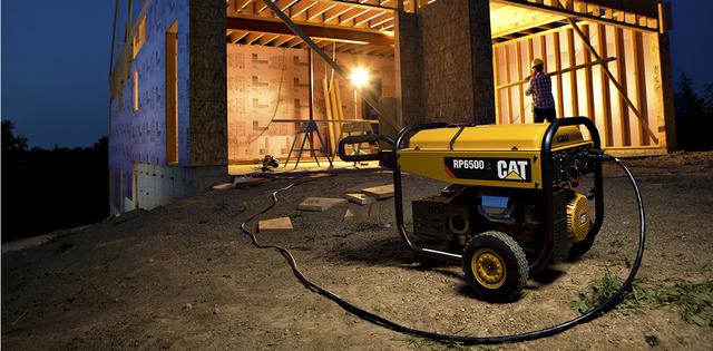 cat-rp6500e-generator-in-construction-application