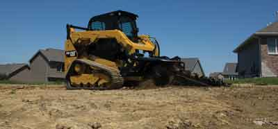 Cat-trencher-attachment
