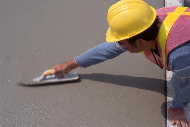Cement construction worker