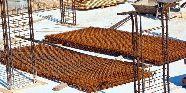 construction materials rusty iron