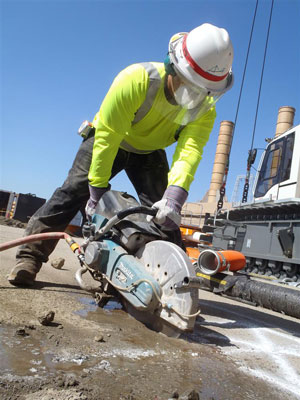 "The Makita MM4 4-Stroke Engine 14"" Power Cutter (EK7651H) is the world's first 4-stroke engine power cutter."