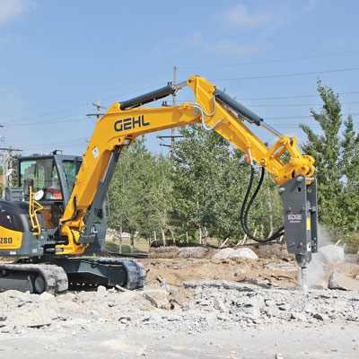 Picking and Pairing Hammer Attachments for Compact Excavators