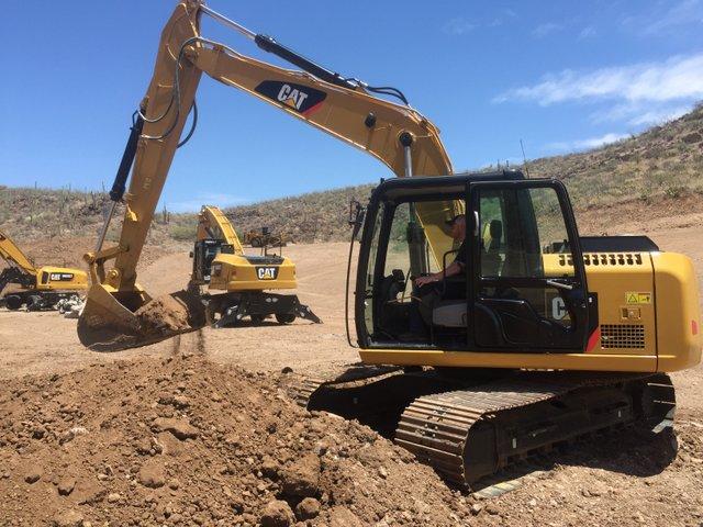 Keith Gribbins Caterpillar excavator