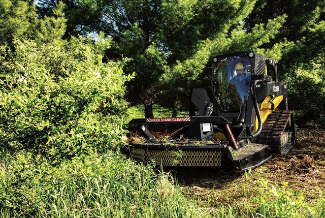 John Deere track loader brush cutter