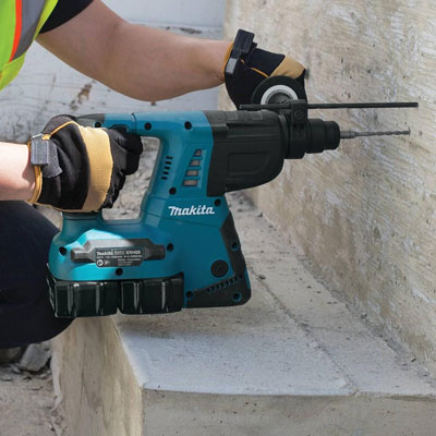 "Makita's expanding 18V cordless line-up includes the 18V X2 LXT (36V) 1"" Rotary Hammer (XRH05), powered by two 18V batteries for 36V power and run-time."