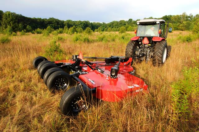 Woods equipment such as a batwing will be painted to match Massey Ferguson tractors and will be available at participating Massey Ferguson dealerships.